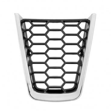 Plaketka volanta RS honeycomb chrome - KI-R pre zrezaný športový volant - Škoda Superb III