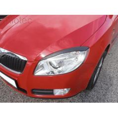 Kryty světlometů Milotec (mračítka)  ABS černý Škoda Roomster / Fabia II