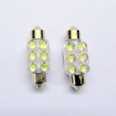 6 LED žárovky sulfit modré 36 mm 2 ks