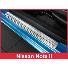 Nerez ochranné lišty prahu dveří 4ks Nissan Note 2 2014-16