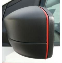 Desig  lišta zpětných zrcátek - červená Škoda Octavia II Facelift / Superb II / Octavia III / Rapid / Citigo / Yeti / Fabia III / Superb III