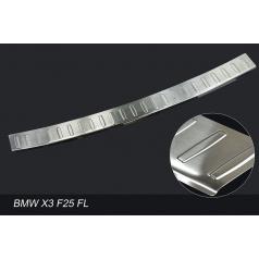 Nerez kryt- ochrana prahu zadního nárazníku BMW X3 F25 2014+