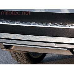 Škoda Superb III Limousine / Combi - lišta zadního nárazníku, ABS - Alu-Brusch