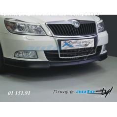 Podspoiler předního nárazníku - černý desén Škoda Octavia II facelift