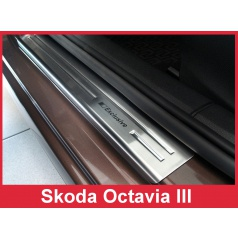 Nerez ochranné lišty prahu dveří 4ks Škoda Octavia III 2013-16