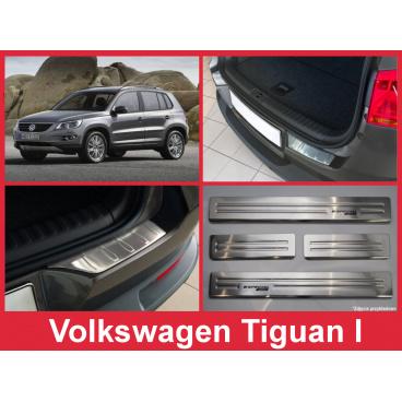 Nerez kryt- sestava-ochrana prahu zadního nárazníku+ochranné lišty prahu dveří VW Tiguan 2007-15