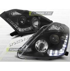 NISSAN 350Z 2003-05 PŘEDNÍ ČÍRÁ SVĚTLA DAYLIGHT LED BLACK (LPNI04)