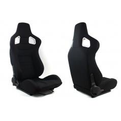 Sportovní polohovatelná sedačka látková A1 Racing Glock černá