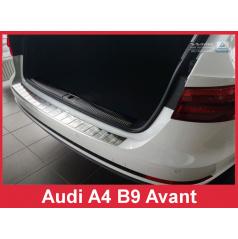 Nerez kryt- ochrana prahu zadního nárazníku Audi A4 B9 Avant 2015-16
