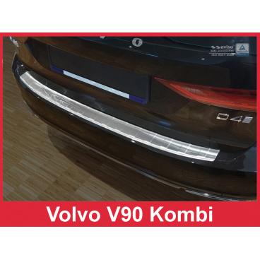 Nerez kryt- ochrana prahu zadního nárazníku Volvo V 90 2016+