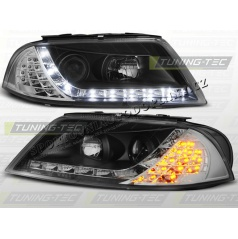VW PASSAT 3BG 2000-05 PŘEDNÍ ČÍRÁ SVĚTLA DAYLIGHT LED BLACK (LPVWC8)