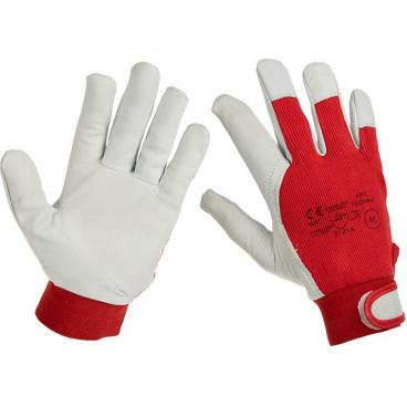 Pracovní rukavice z pravé kůže / látka vel. 10