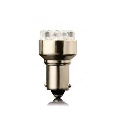12 LED bílá žárovka jednovláknové BA 15S 21W 1 ks