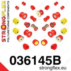 BMW řada 3 (E46) StrongFlex kompletní sestava silentbloků 20 ks