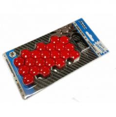 Červené  kryty šroubů 21 ks (vnitřní průměr 19 mm)