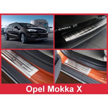 Nerez kryt- sestava-ochrana prahu zadního nárazníku+ochranné lišty prahu dveří Opel Mokka X 2016+