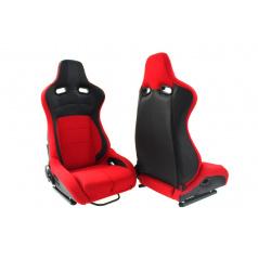 Sportovní polohovatelná sedačka A1 RACING FLURIO červená