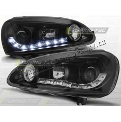 VW GOLF V 2003-09 PŘEDNÍ ČÍRÁ SVĚTLA DAYLIGHT LED BLACK (LPVW99)