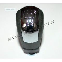 Hlavice řadící páky černá/chrom 5-rychl.  Škoda Octavie I, II, Fabie, Superb