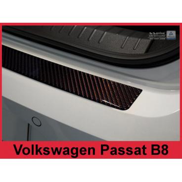 Carbon kryt- ochrana prahu zadního nárazníku Volkswagen Passat B8 2014+