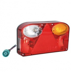 Združená lampa pre univerzálne použitie s trojuholníkovou odrazkou a couvacím svetlom