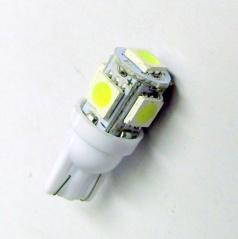 5 SMD LED žárovka T10W2 bílé - 1 ks