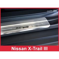 Nerez ochranné lišty prahu dveří 4ks Speciální edice Nissan X-Trail 3 2014-17