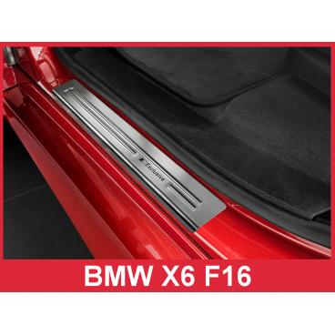 Nerez ochranné lišty prahu dveří 4ks BMW X6 F16 2014-16
