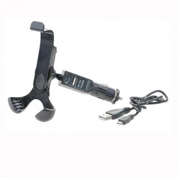 Držák pro uchycení telefonu, PDA (MDA), GPS s USB do zapalovače s nabíječkou
