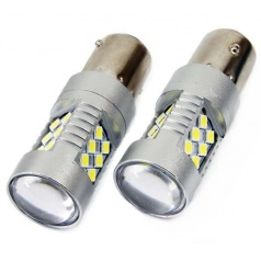 Žiarovky BA15S - 24 SMD LED biele 12 / 24V CAMBUSA (2 ks)