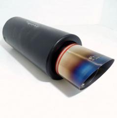 Sportovní výfuk nerez WM sport, šikmá koncovka 90 mm color
