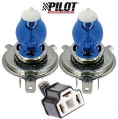 Žárovky H4 100W Pilot Xenium Race - 2 ks + navíc 2 parkovací žárovky