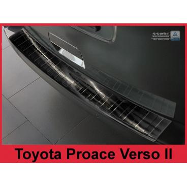 Nerez kryt- černá ochrana prahu zadního nárazníku Toyota Proace Verso II 2016+