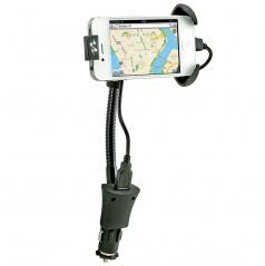 Ohebný držák mobilního zařízení včetně nabíjení