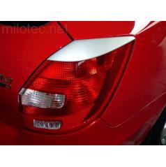 Kryty zadních svítilen Milotec  ABS stříbrný Škoda Fabia II