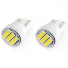 Žárovky parkovací T10 3 SMD LED bílé 6000K - 2 ks
