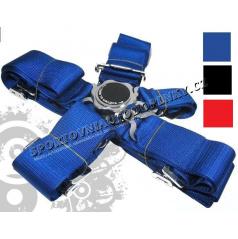 5-bodové bezpečnostní pásy CAM LOCK 75 mm modré