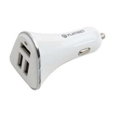 USB nabíječka 3xUSB 5,2A + microUSB kabel 1m WHITE