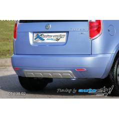 Škoda Roomster Zadní difuzor lyžina All-road - hladký pro lak+stříbrná lyžina