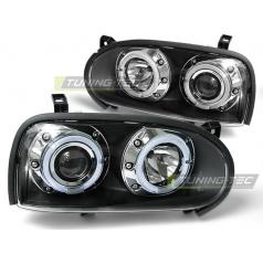 VW Golf 3 09.91-08.97 přední čirá světla Angel Eyes Black (LPVW10)