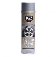 K2 stříbrný lak na kola 500 ml