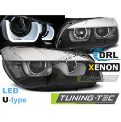 BMW X1 E84 08.2012-01.2014 přední čirá světla Tube Light black (LPBME6)
