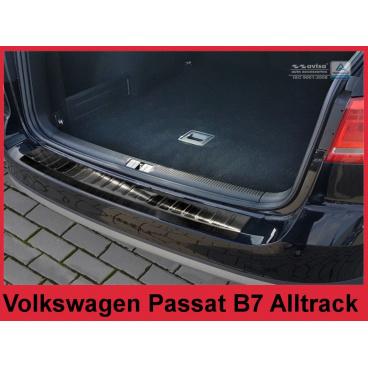 Nerez kryt- černá ochrana prahu zadního nárazníku Volkswagen Passat B7 Alltrack 2012-14