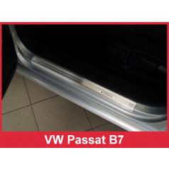 Nerez ochranné lišty prahu dveří 4ks Volkswagen Passat B7 2011-14
