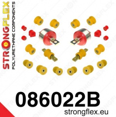 Honda CRX 1992-97 StrongFlex sestava silentbloků jen pro zadní nápravu 22 ks