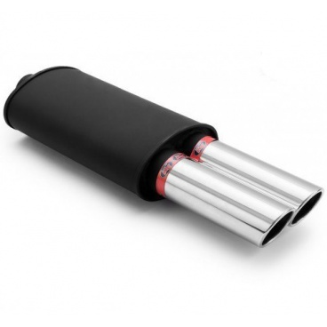 Sportovní výfuk RM DUAL 2x76 mm šikmé, vstup 63 mm