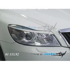 Škoda Octavia II facelift - mračítka předních světel - pro lak