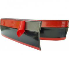 Univerzální spodní pružný  lip s podlepením černý s červenou linkou
