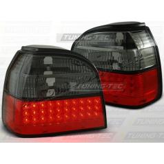 VW GOLF III 1991-97 ZADNÍ LED LAMPY RED SMOKE (LDVW36)
