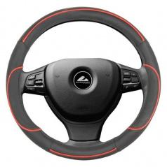 Potah na volant - černá s červenou linkou S
